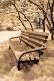 ława objętych śnieg Fotografia Royalty Free