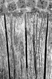 ławka łamający szczegół drewniany obrazy stock