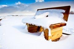 ławka śnieżna Obraz Stock