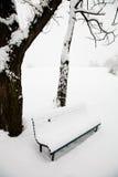 ławka śnieg fotografia stock