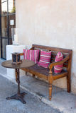 Ławka i stół w Santanij Fotografia Royalty Free