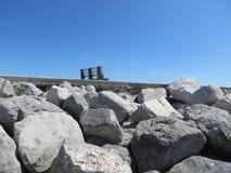 Ławka na Floryda plaży fotografia stock