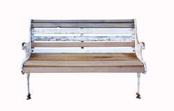 ławka odizolowywający parkowy biel Zdjęcia Royalty Free