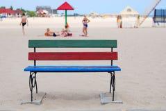 ławka plażowa Zdjęcie Stock