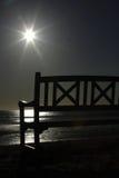ławka plażowa pusta Zdjęcie Stock