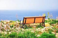 Ławka przy morzem Fotografia Stock