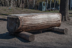 Ławka robić drewniane bele Obraz Stock