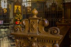 Ławka w kościół katolickim w Germany obraz royalty free