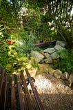Ławka w Palmowym domu, Wałbrzyskim, Polska zdjęcia royalty free