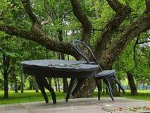 Ławka w parku obraz stock