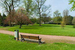 Ławka w parku Obrazy Royalty Free