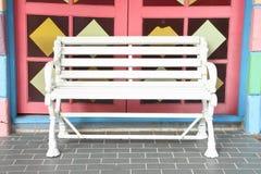 ławki drewniany biały Fotografia Royalty Free