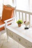 ławki krzesła biel Obraz Stock