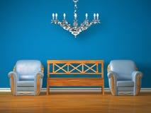 ławki krzeseł świecznika srebro dwa drewniany Obraz Royalty Free