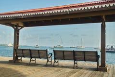 Ławki na Boardwalk Fotografia Stock