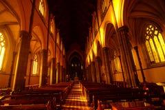 Ławki przy St Patrick katedrą Obraz Royalty Free