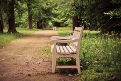 Ławki wśród drzew w parku, Nieborow Polska Fotografia Royalty Free