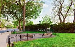 Ławki w parku w national mall washington dc zdjęcia stock