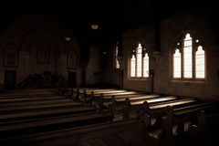 Ławki w Ross Łączącym kościół Obraz Stock