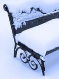ławki zima Obrazy Royalty Free