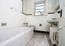 łazienka brudna fotografia stock