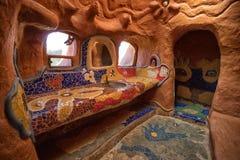 Łazienka budująca całkowicie od gliny Zdjęcie Stock