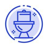 Łazienka, Czyści, toaleta, Washroom linii linii błękit Kropkująca ikona ilustracji