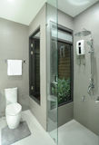 Łazienka i ręcznik zdjęcie stock