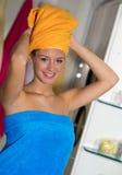 łazienka jej kobieta Obraz Stock