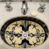 łazienka malujący zlew Zdjęcie Royalty Free