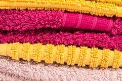 łazienka ręcznik ustalony ręcznik Obrazy Royalty Free