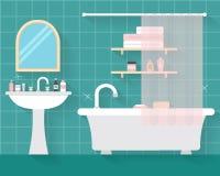 Łazienka z meble ilustracji