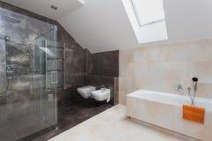 Łazienka z prysznic i skąpaniem zdjęcia royalty free