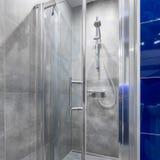 Łazienka z spacerem w prysznic zdjęcie stock