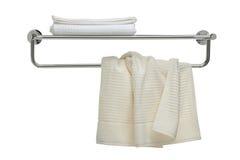 łazienki świezi przedmiota serii ręczniki używać obraz stock