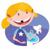 łazienki dziewczyny ząb ilustracji
