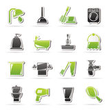 Łazienki i higieny przedmiotów ikony Zdjęcia Royalty Free