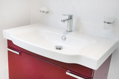 łazienki nowożytna zlew jednostka Zdjęcia Royalty Free