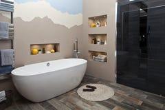 łazienki pucharu wnętrza ręcznik Obrazy Stock