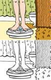 łazienki skala royalty ilustracja