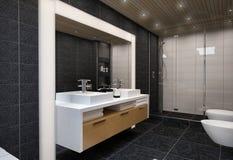 Łazienki wnętrze ilustracji