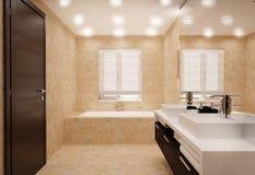 Łazienki wnętrze ilustracja wektor