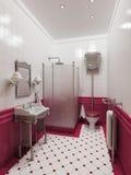 łazienki wnętrze royalty ilustracja