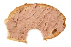 łba gryźć chlebowy plasterek zdjęcie stock