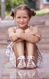 łgarscy dziewczyna schodki zdjęcia royalty free