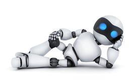 Łgarski biały robot tylko Obrazy Stock