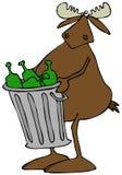 Łoś amerykański bierze out śmieci ilustracja wektor