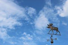 Łoś amerykański weathervane Zdjęcie Stock