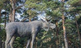 Łoś amerykański zwierzęca rzeźba zdjęcia stock