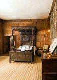 łoża łóżko, Baddesley Clinton rezydenci ziemskiej dom, Warwickshire obrazy stock